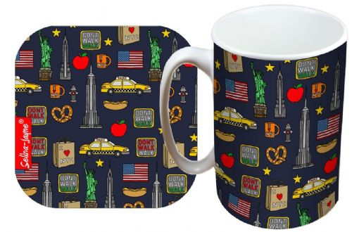 Selina-Jayne New York City Limited Edition Designer Mug and Coaster Gift Set